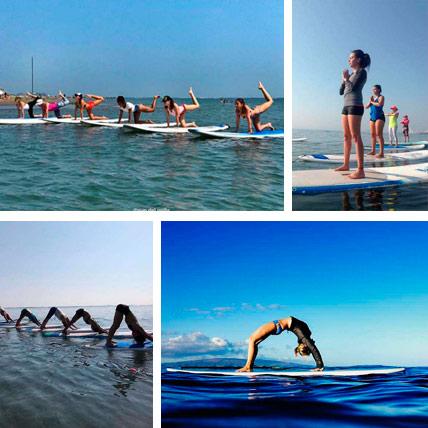 Clase de Yoga sobre tablas de Stand Up paddle