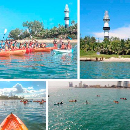 Kayak a la Isla de Sacrificios desde Boca del Rio