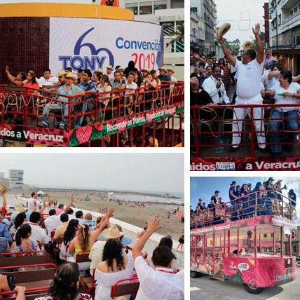 Renta de Tranvia para eventos en Veracruz y Boca del Río